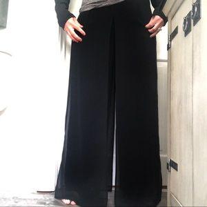 JOSEPH RIBKOFF Black Palazzo Pants Size 12